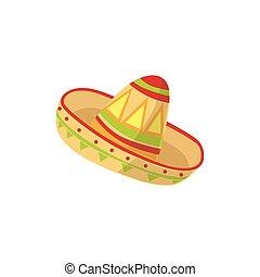 mariachi, symbole, chapeau, culture mexicaine