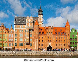mariacka, portão, em, gdansk