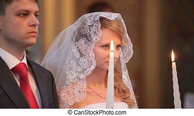 mariage, église