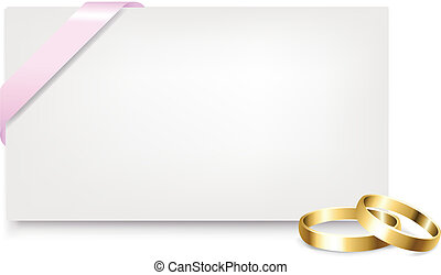 mariage, étiquette, anneaux, cadeau, vide