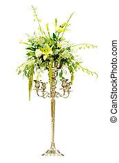 mariage, arrangement fleur