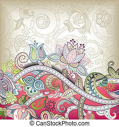 mariage, asie, carte, invitation