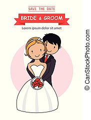 mariage, carte, invitation
