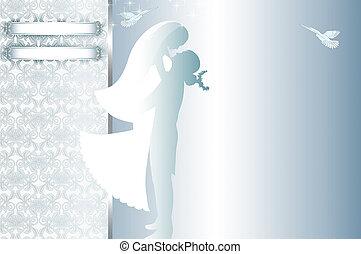 mariage, carte, invitation, design.