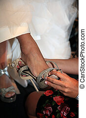 mariage, chaussures