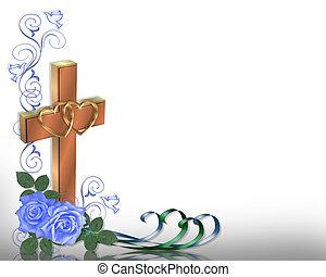 mariage, chrétien, invitation