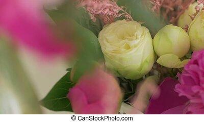 mariage, closeup, floristics
