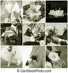 mariage, collage