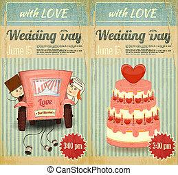 mariage, ensemble, invitation