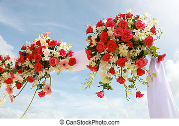 mariage, flowers.