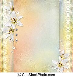 mariage, fond, fleurs, félicitations, invitations