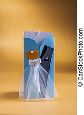 mariage, jaune, 1, fond, invitation, carte