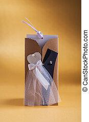 mariage, jaune, 3, fond, invitation, carte