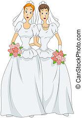 mariage, lesbienne