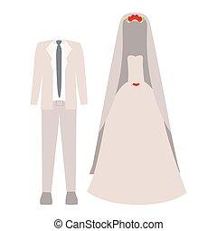 mariage, mode, vêtements