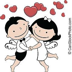 mariage, ou, carte, valentin