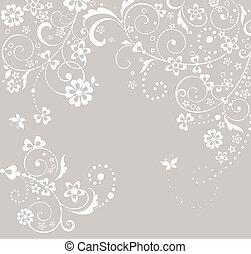 mariage, pastel, carte
