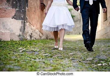 mariage, pieds