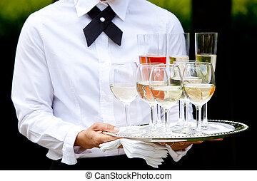 mariage, service, restauration