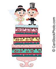 mariage, tarte