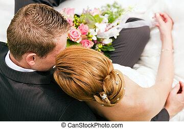 mariage, -, tendresse