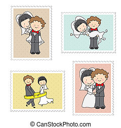 mariage, timbres