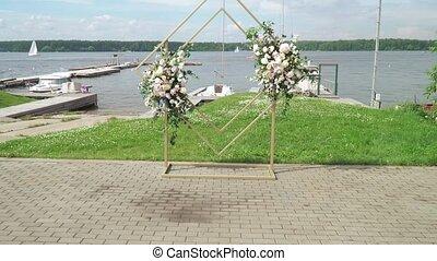 mariage, voûte, cérémonie