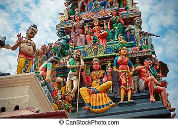 mariamman, indù, sri, tempio, più vecchio, tempio, singapore...