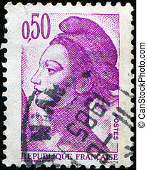 Marianne - FRANCE - CIRCA 1980: A stamp printed in France...