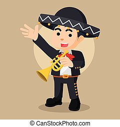 mariarchi trumpet illustration character full colour