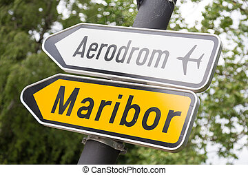 maribor, 道, aerport, 印