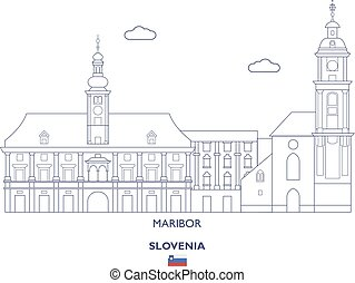 Maribor City Skyline, Slovenia - Maribor Linear City...