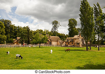 Marie Antoinette's farmhouse village in Versailles