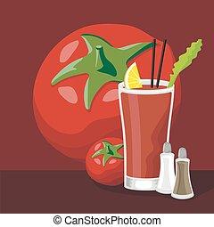 marie, cocktail, sanglant