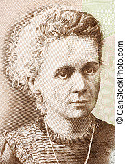 Marie Curie (1867-1934) on 20 Zlotych 2011 Banknote from Poland. French-Polish physicist and chemist famous for her pioneering research on radioactivity.