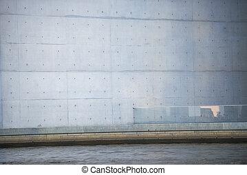 Marie-Elisabeth-Lueders-House in Berlin - gray wall of the...