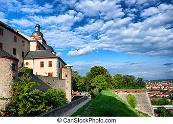 Marienberg castle in Wurzburg, Germany