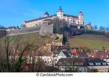 marienburg, hill., fort, wurzburg., aanzicht