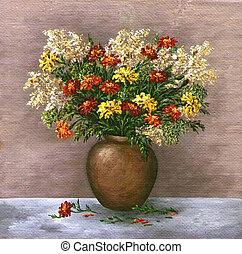 Marigold and a saffron