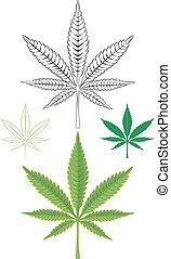 marihuana blad, marihuana