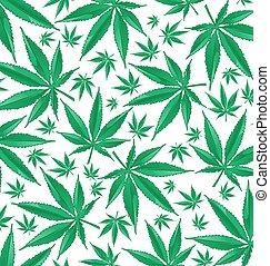 marihuana, grün, muster, hintergrund