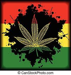 marihuana, jamaica-background