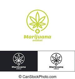 marihuana, medizin, logo