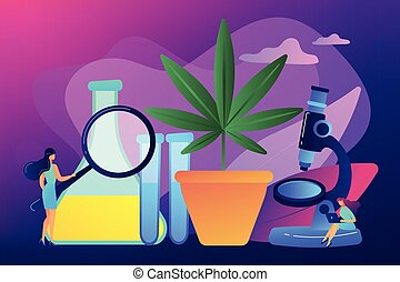 Marihuana products innovation concept vector illustration.