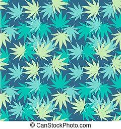 marihuana, seamless, vektor, muster