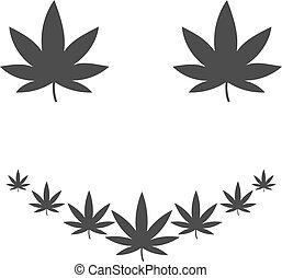 Marihuana Smile Flat Icon