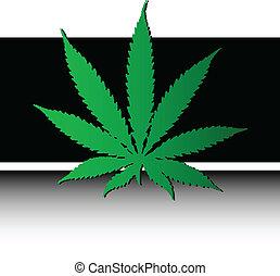 marihuana, vektor, abbildung