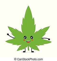 marihuana, vrolijke , schattig, het glimlachen, wiet, gekke