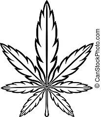 marijuana 001.eps - Stylized Green Marijuana Pot Weed Leaf...