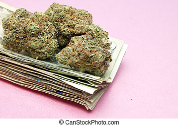 Marijuana and Cannabis Legalization, Objects on White Background, Medical and Recreational Weed